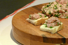 Thumbnail image for [1st course] Poor man's Cristmas Eve dinner: Amouse bouche – Istrian lard spread