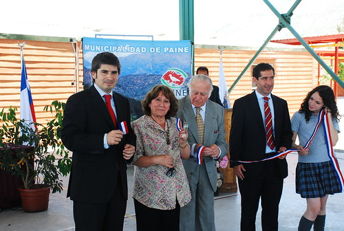 Ceremonia de inauguraci n del colegio el as s nchez for Viveros en paine