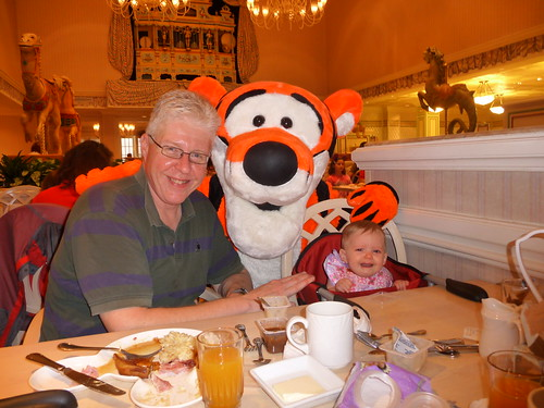Paul, Tigger and crying Blair by Paul Gillin