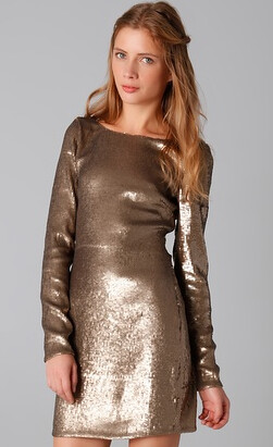 Haute Hippie Metallic Dress