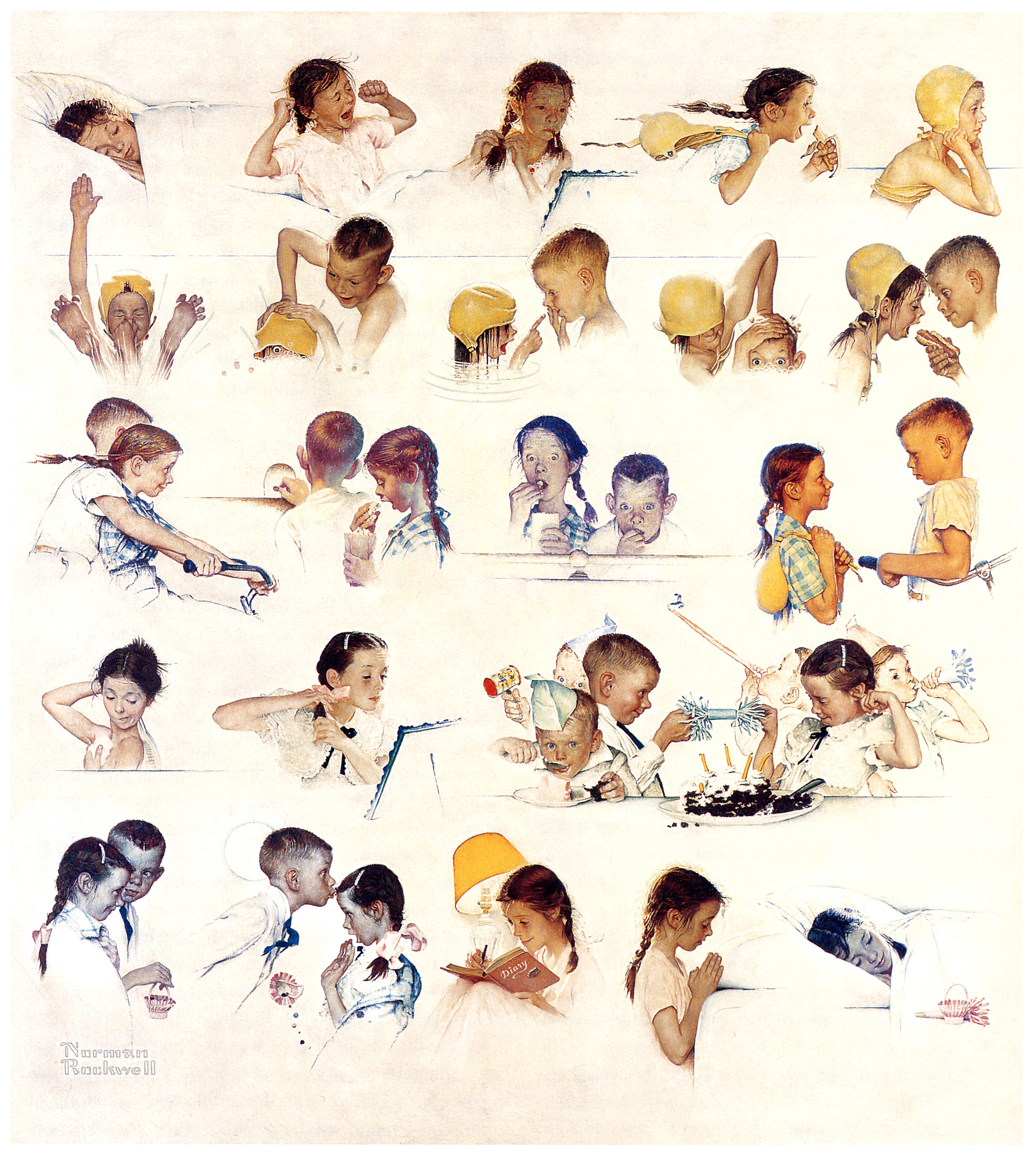 1952... 'A Day in the Life of a Little Girl' - by Norman Rockwell