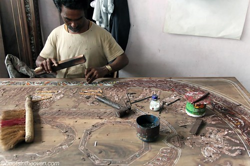 Mysore inlay work in action