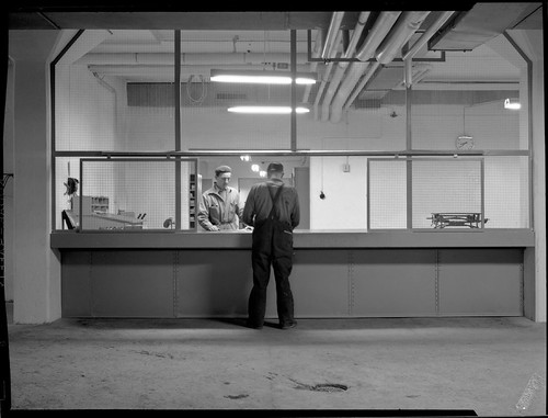 The workshop of Hammarby, Stockholm 1952 by Stockholm Transport Museum Commons