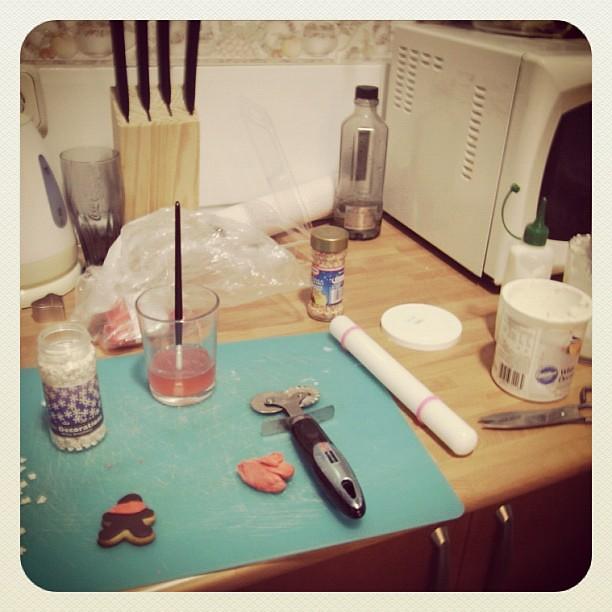 preparación galletas fondant
