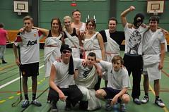 TE09 segrade i innebandyturneringen på Österlengymnasiet, dec 2011