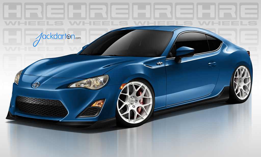 scion frs rendered with hre p40s wheels. Black Bedroom Furniture Sets. Home Design Ideas