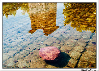 stone and reflection