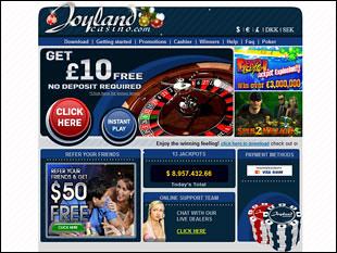 Joyland Live Casino Home
