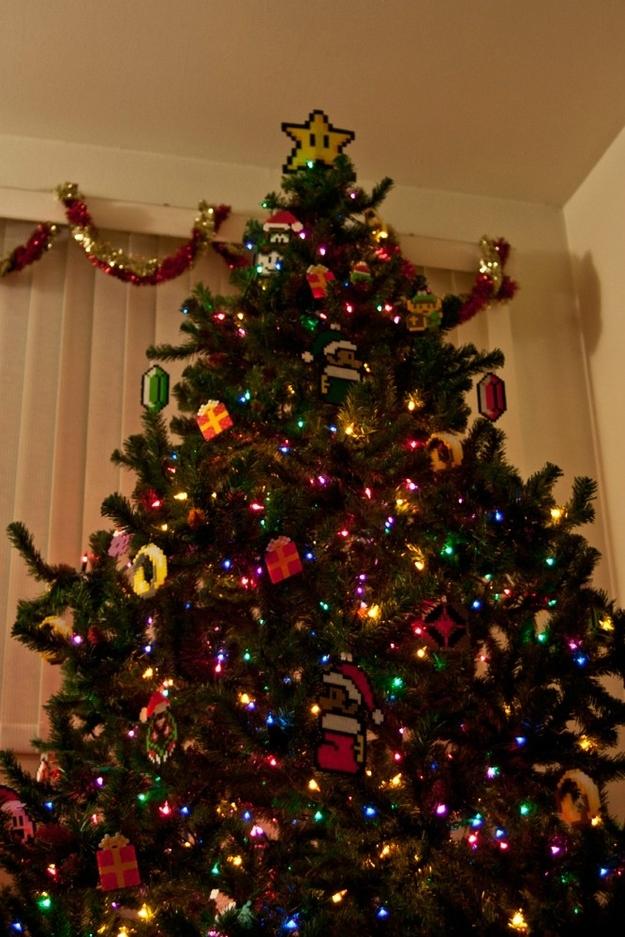 árbol navideño Super Mario Bros