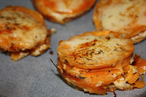 Stacked Scalloped Sweet Potatoes