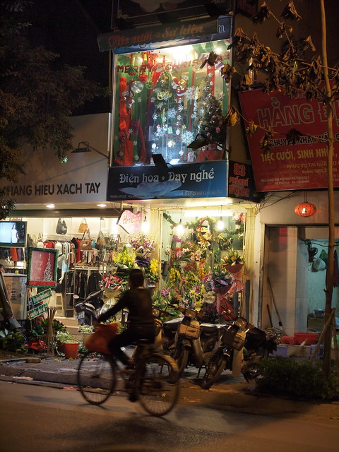 Flower shop in the night