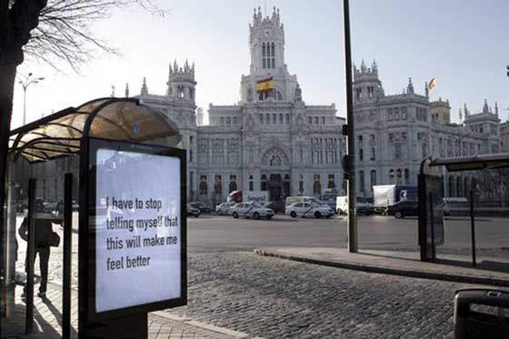 Madrid Street Advertising Takeover, photo via Wooster Collective