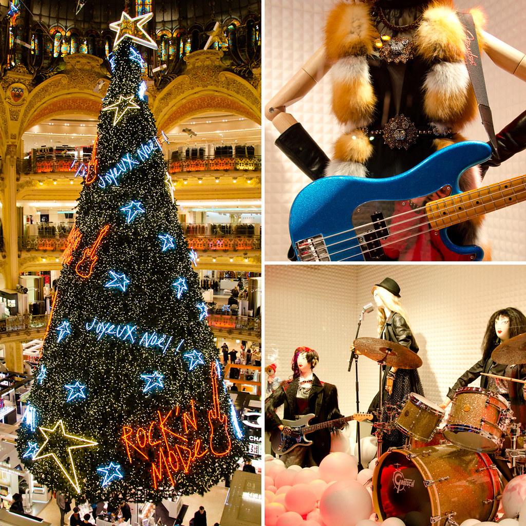 Vitrines de Noël aux Galeries Lafayette