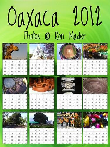 Oaxaca Calendars for 2012