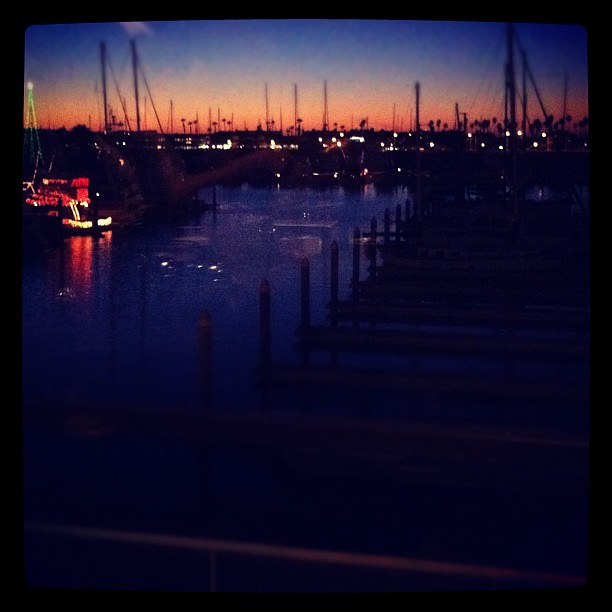Our view of the harbor at dinner