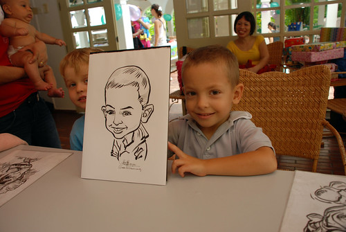 caricature live sketching for children birthday party 08 Oct 2011 - 9