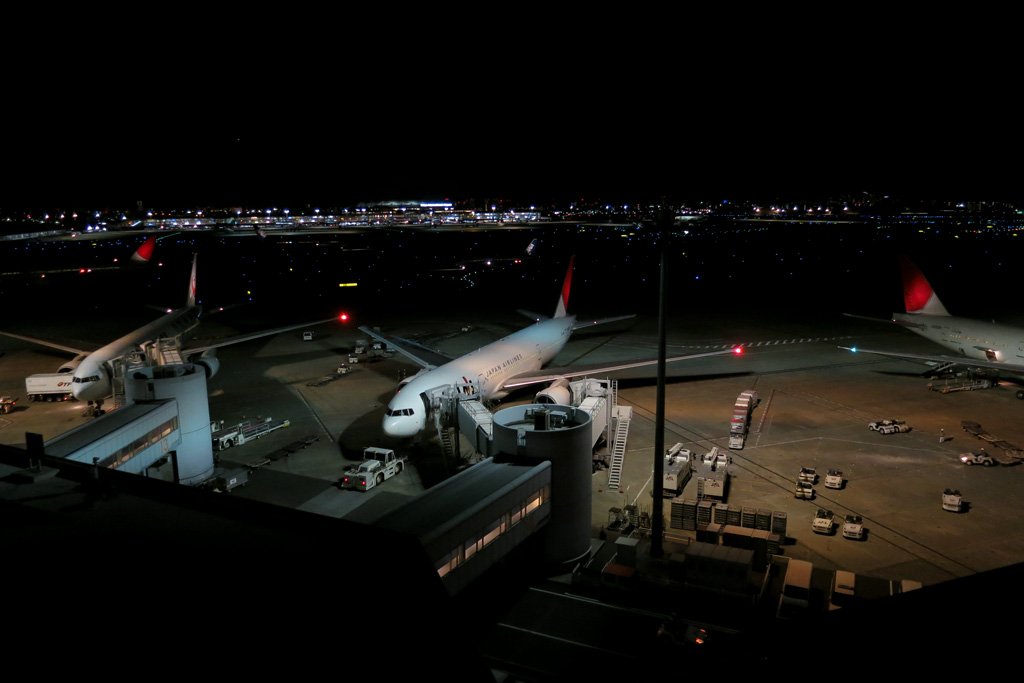 Tokyo International Airport 1st Terminal at night