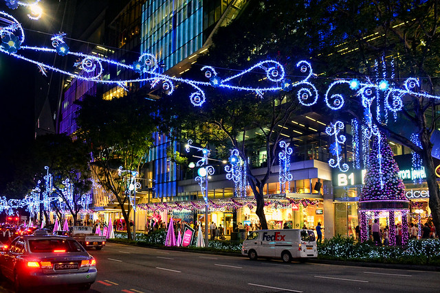 Christmas tree at Orchard Central, Singapore