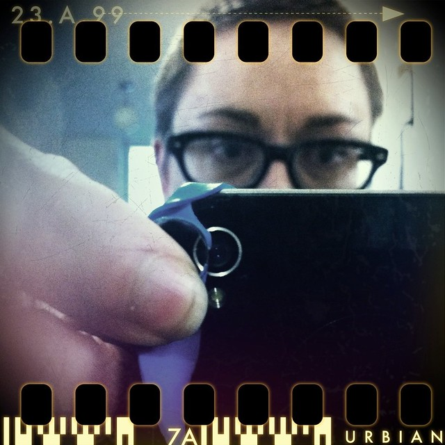 me with the Easy Macro Cell Lens Band from Photojojo
