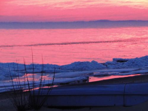 sunset sky ontario beach clouds lakeerie