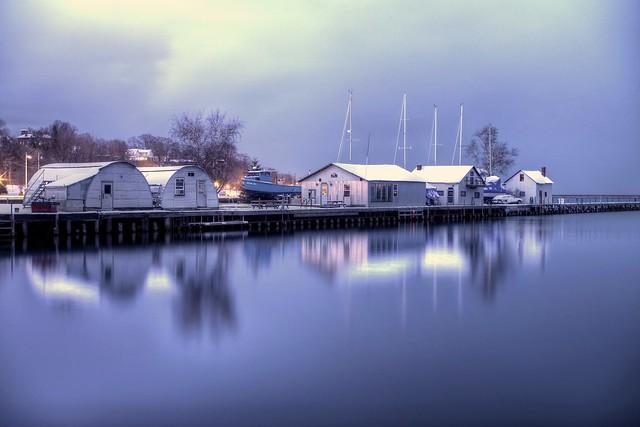 Fish Dock Near Twilight