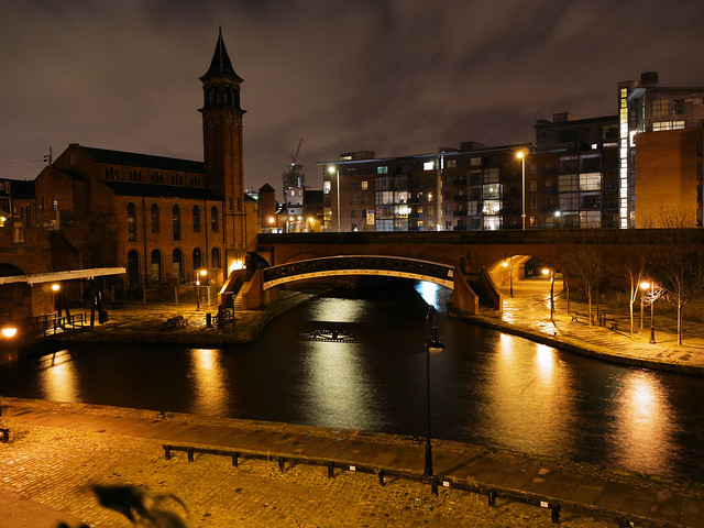 Manchester Canal Scene at Night