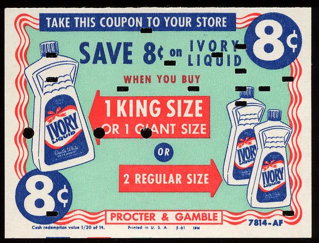 Ivory Liquid Detergent, 1961