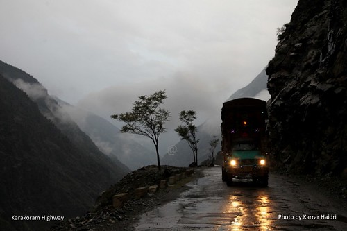A Truck on Karakoram Highway