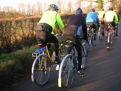 "Lowestoft ""wrinklies"" Suffolk bike ride Dec 30, 2011"