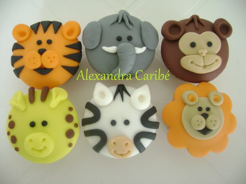 Cupcake bichinhos de selva