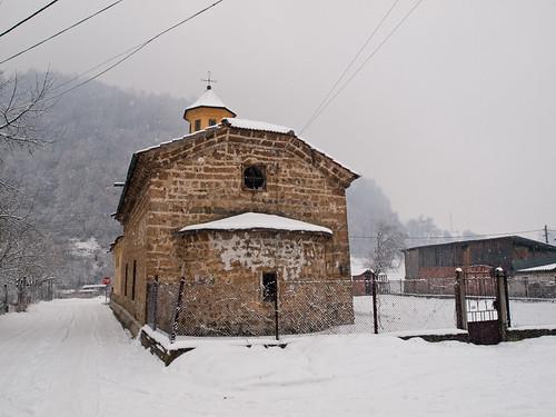 winter snow monument nature fairytale bulgaria zuiko orthodoxchurch etropole olympuse3 plamenvelev