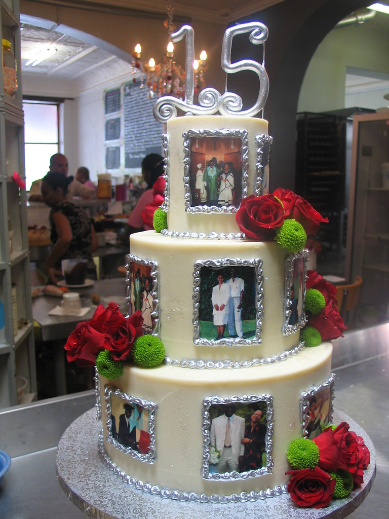 3 Tier Anniversary Themed Wicked Chocolate Cake Iced In