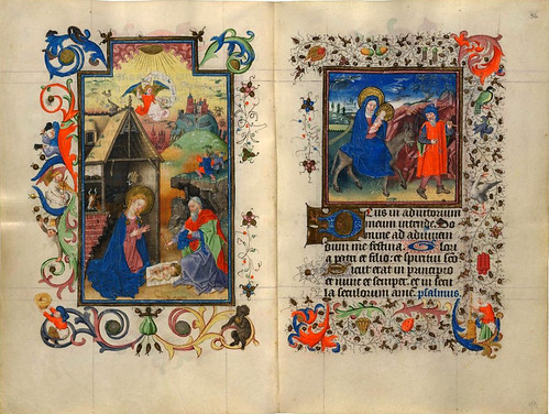 004-The Hours of Catherine of Cleves- alrededor de 1440-  MS M.945 ff. 35v–36r- © The Morgan Library & Museum