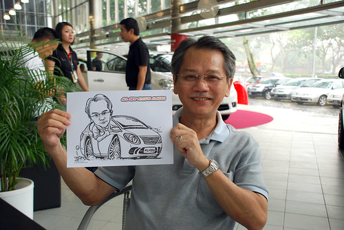 Caricature live sketching for Tan Chong Nissan Almera Soft Launch - Day 1 - 10