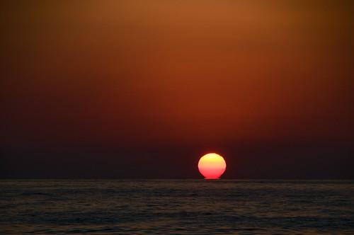 sunset sea sky orange seascape nikon 365 oman d300 musandam project365 365days