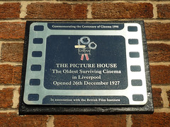 Photo of Picture House, Liverpool film cell plaque
