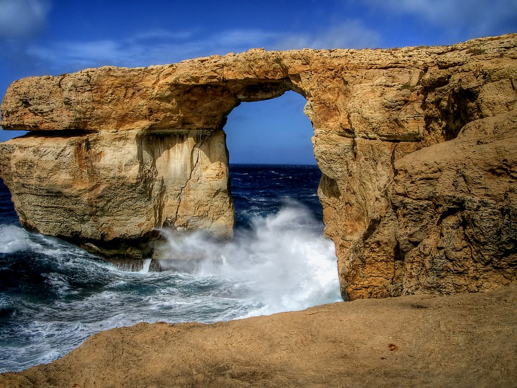The Azure Window, in Gozo Island, Malta