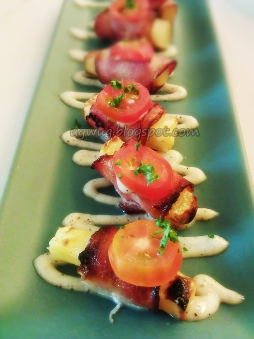 Smoked Potato Roll with Bacon