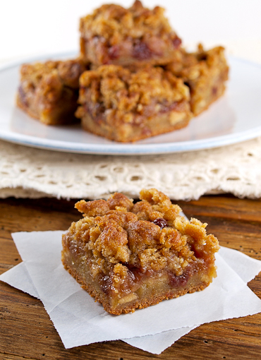 Apple Cherry Oat Bars