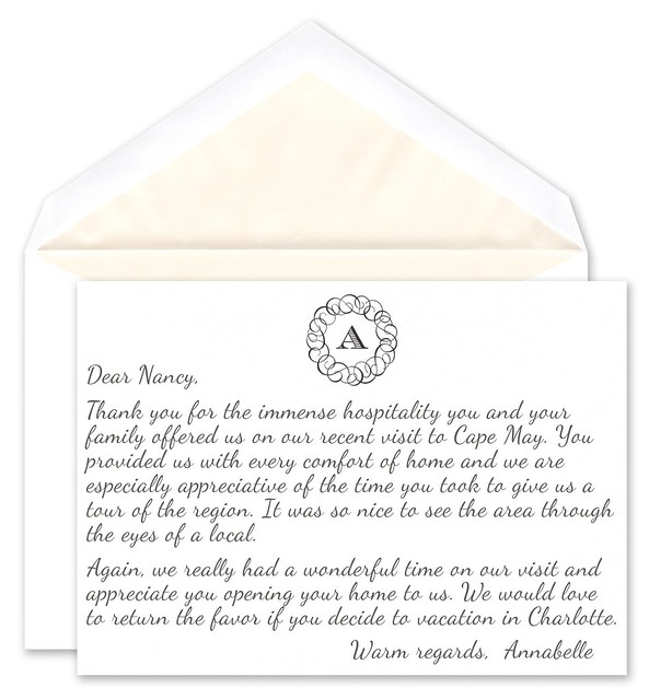 how to write a gracious thank you note