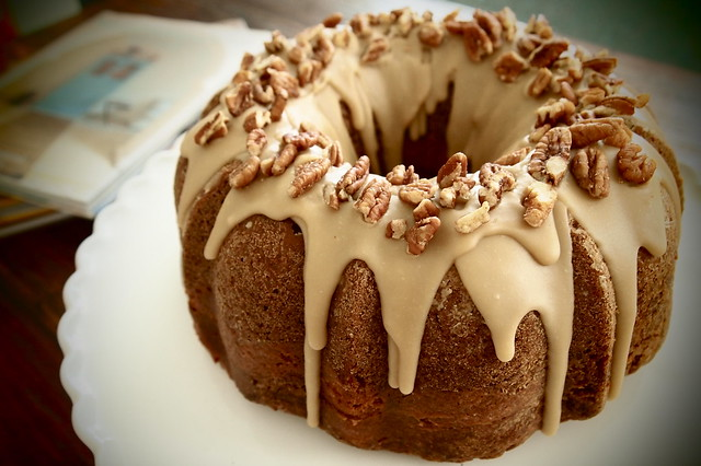 Apple Cream Cheese Bundt Cake with Praline Frosting ...