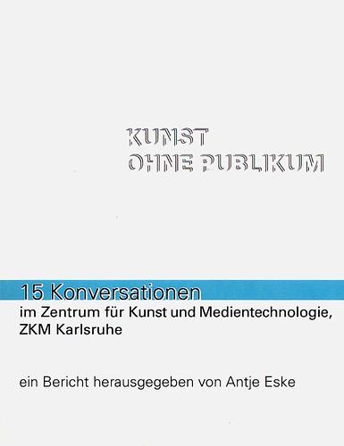 Cover des Buchs Kunst ohne Publikum 2011