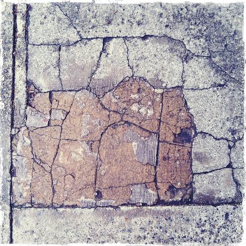 cracks in the cement sidewalk in seattle