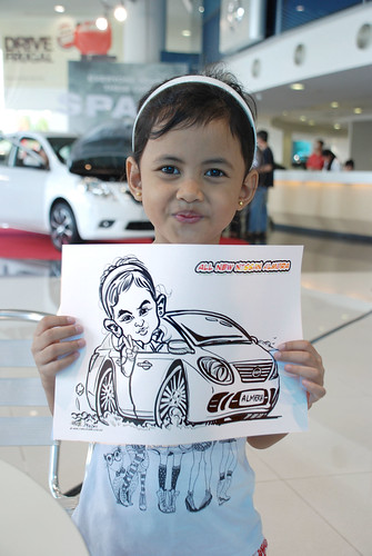 Caricature live sketching for Tan Chong Nissan Motor Almera Soft Launch - Day 3 - 11