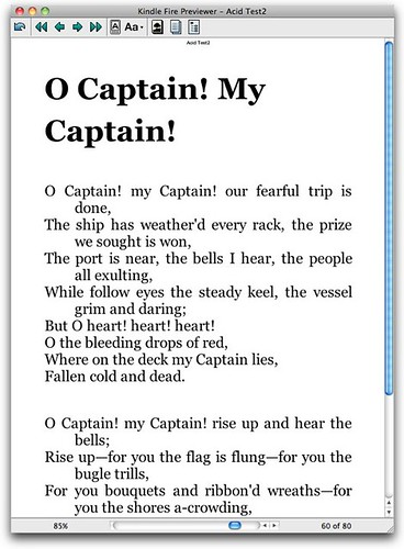 Poetry- KindleFire formatting