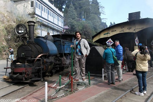 Logan with Toy Train