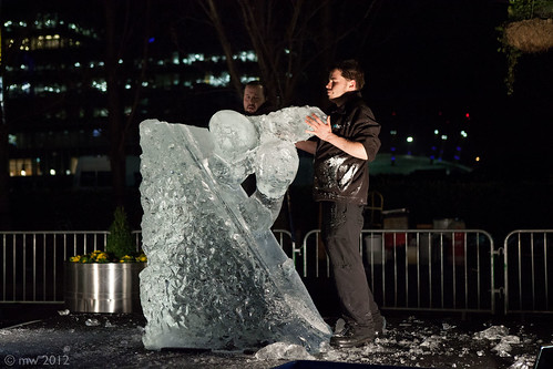 The London Ice Sculpting Festival  Canary Wharf by sinister pictures
