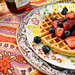 lemon cornmeal waffles