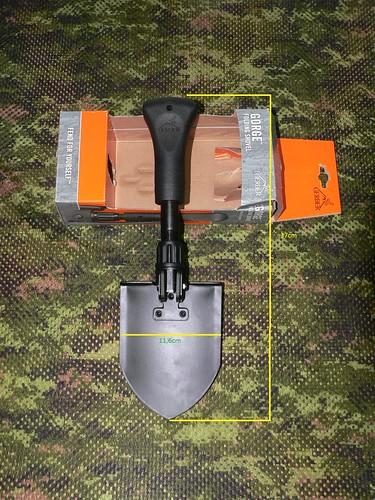 Gerber Gorge Folding Shovel - Gerber Pala Plegable Extendida 2 - Medidas 2