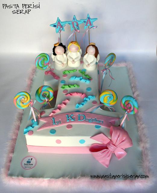 melekli  1 yaş pastası - ada
